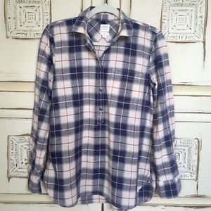 J Crew Boyfit Plaid Homespun Popover Shirt XS
